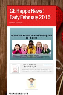 GE Happe News! Early February 2015