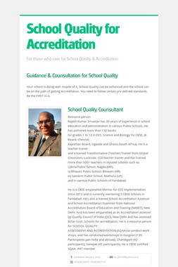 School Quality for Accreditation