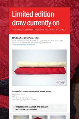Limited edition draw currently on