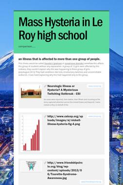 Mass Hysteria in Le Roy high school