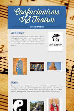 Confucianisms VS Taoism