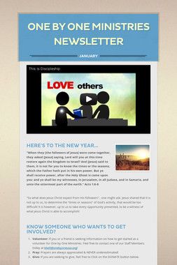 One by One Ministries Newsletter