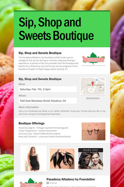 Sip, Shop and Sweets Boutique