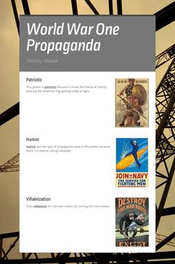 World War One Propaganda