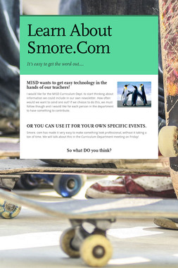 Learn About Smore.Com