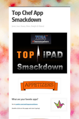 Top Chef App Smackdown