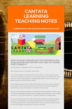 Cantata Learning Teaching Notes