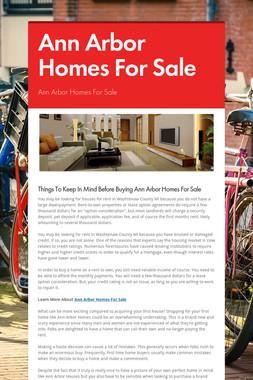 Ann Arbor Homes For Sale