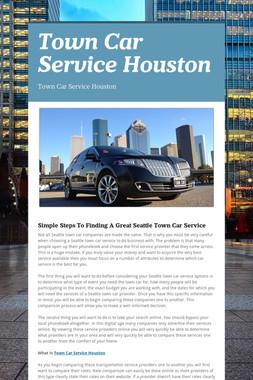 Town Car Service Houston