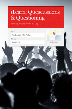iLearn: Quescussions & Questioning