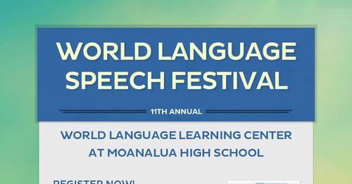 World Language Speech Festival | Smore Newsletters for Education
