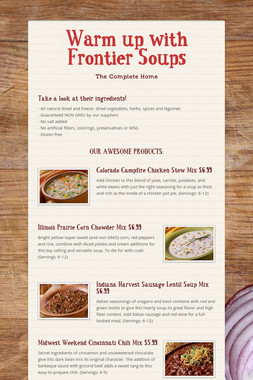 Warm up with Frontier Soups