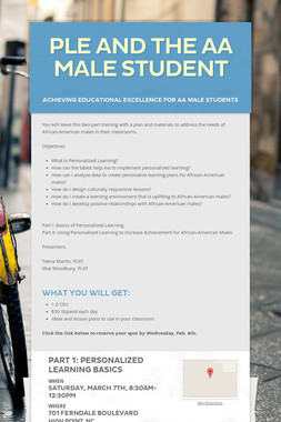 PLE and the AA Male Student