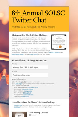 8th Annual SOLSC Twitter Chat