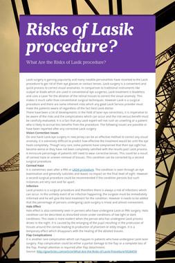 Risks of Lasik procedure?