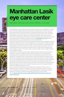 Manhattan Lasik eye care center