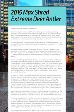 2015 Max Shred Extreme Deer Antler