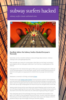 subway surfers hacked