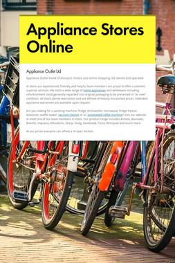 Appliance Stores Online