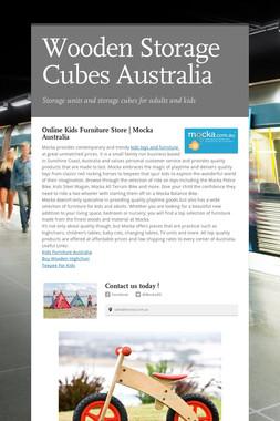 Wooden Storage Cubes Australia