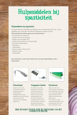Hulpmiddelen bij spasticiteit