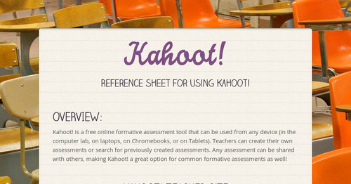 Kahoot! | Smore Newsletters for Education