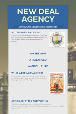 New Deal Agency
