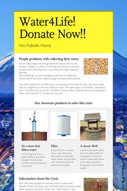 Water4Life!  Donate Now!!