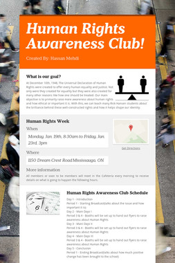 Human Rights Awareness Club!