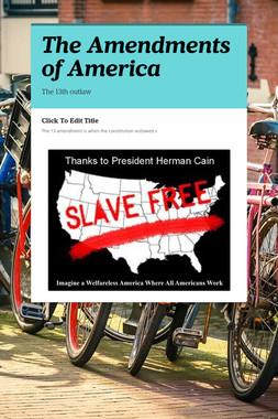 The Amendments of America
