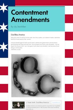 Contentment Amendments