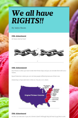 We all have RIGHTS!!