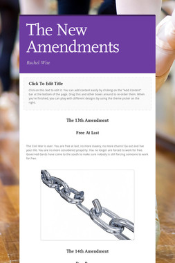The New Amendments
