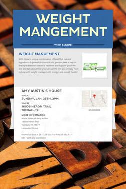 Weight Mangement