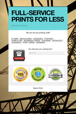 FULL-SERVICE PRINTS FOR LESS