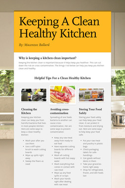 Keeping A Clean Healthy Kitchen