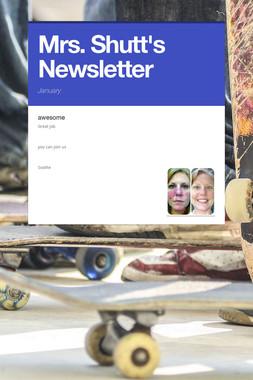 Mrs. Shutt's Newsletter