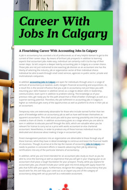 Career With Jobs In Calgary