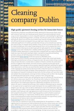 Cleaning company Dublin