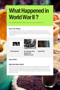 What Happened in World War II ?