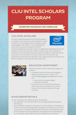 CLIU Intel Scholars Program