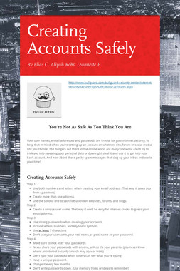 Creating Accounts Safely