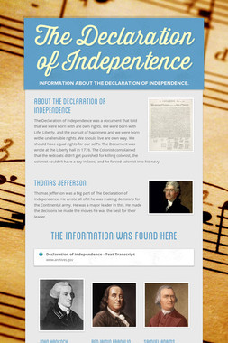 The Declaration of Indepentence