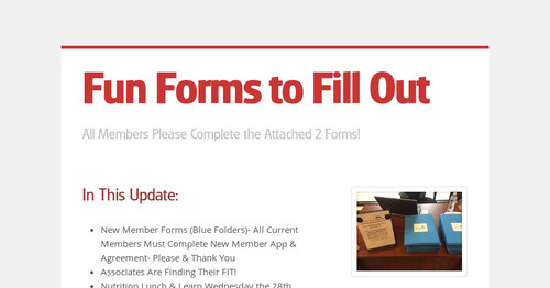fun forms to fill out smore newsletters for education