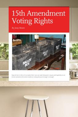 15th Amendment Voting Rights