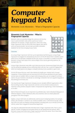 Computer keypad lock