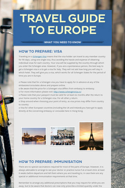 Travel Guide to Europe