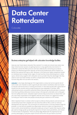 Data Center Rotterdam