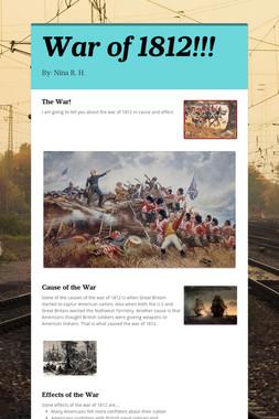 War of 1812!!!