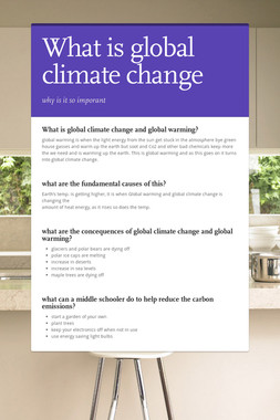 What is global climate change